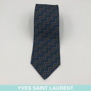 Yves Saint Laurent blue tie